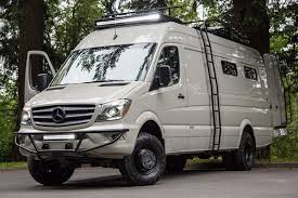 Outside Vans Custom Built Valhalla Adventure Van Was On A 4x4 170EXT 3500 Mercedes Benz Sprinter See More Over Here Courtesy Of