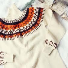 Vintage Fair Isle Knit Sweater Dress Sweet Vintage Sweater