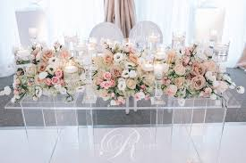 Tent Wedding Head Table Flowers Toronto