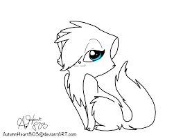 FREE WARRIOR CAT ADOPTABLE LINEART By