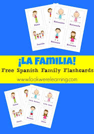 Check Out These Cute Free Spanish Family Flashcards From Look Were Learning What