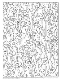 Creative Haven Textile Designs Coloring Book By Marjorie Sarnat Woodsy Flowers