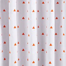 Land Of Nod Blackout Curtains by Little Prints Orange Triangle 96
