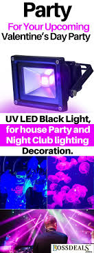 UV Black Light LED Flood For House Party And Night Clubs