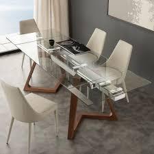 glastisch ausziehbar design esstisch im italienischen design
