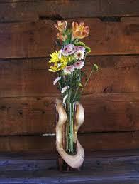 Rustic Log Serpentine Vase Aspen Wood Home Decor Accent Centerpiece Aroma Diffuser