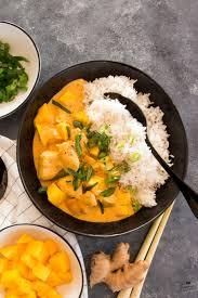 mango chicken curry mit basmatireis schätze aus meiner küche