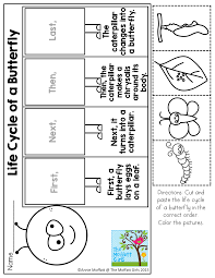 Pumpkin Stages Of Growth Worksheet by Free Life Cycle Of A Butterfly Cut U0026 Paste Worksheet Ultimate