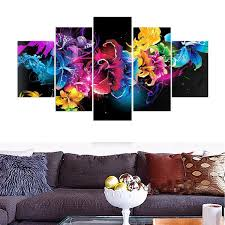 2019 5 Picture Canvas Paintings Wall Art Buddha Paintings Artwork