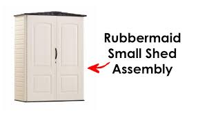 rubbermaid small shed assembly 52 cu ft from home depot youtube