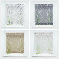 details zu raffrollo ohne bohren raffgardinen modern küche gardinen voile transparent weiß