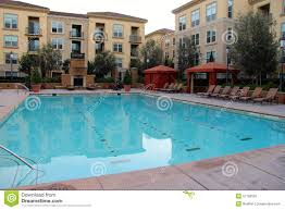 100 Blu Water Apartments Swimming Pool With E And Stock Photo Image Of