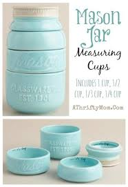 Mason Jar Messuring Cups Home Decor For The Kitchen Teal Love