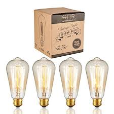 ohr lighting vintage style edison bulb dimmable squirrel cage