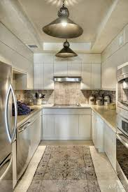 appealing interior chic kitchen design and decoration with galley
