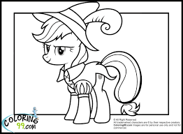 My Little Pony Applejack In Funny Costume Coloring