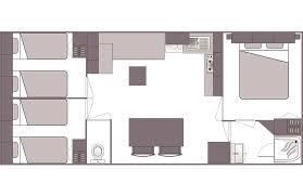 mobilheim komfort 3 schlafzimmer 6 personen 32m2