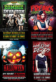 Free Halloween Flyer Templates by Halloween Flyer Template Bundle For Photoshop Awesomeflyer Com