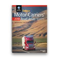 Rand McNally 2018 Deluxe Motor Carriers Truckers Road Atlas Spiral ...