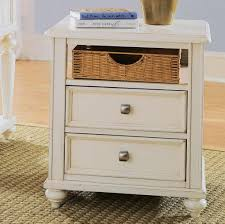 Wood End Table With Lamp Attached by Narrownd Table With Storage Attached Lamp Cup Holder White Tables