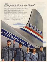 United Airlines Ad 1950