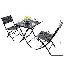HL Patio Bistro Set Dimensions