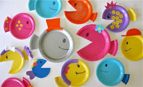 School Of Paper Plate Fish