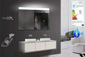 badezimmerspiegel wandspiegel led warm kaltweiß bluetooth lautsprecher smy121x80