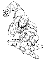 Coloring Pages Free Printable Cool Patriot Iron Man
