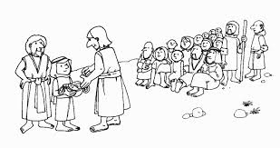Jesus Feeds 5000 Printable Coloring Pages