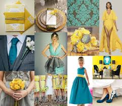 Yellow Teal Grey