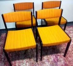 1 v 4 stuhl stühle 70er polsterstuhl esszimmer wohnzimmer