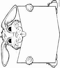 Coloring Page Bunny Read Book