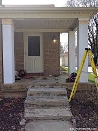 Columns On Front Porch porch makeover details balancing home with megan bray