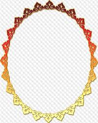PSD 16 PNG Oval Golden Frames With Transparent Background