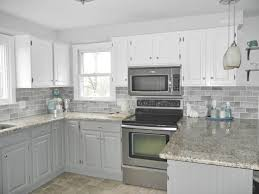 Grey Tiles With Grey Grout by Backsplash White Kitchen With White Subway Tile Cloud White