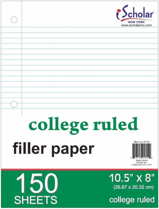 Ischolar College Ruled Filler Paper