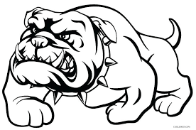 Dog Coloring Pages To Print Bulldog Page Printable For