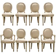 louis xvi chair antique set of 8 louis xvi style painted dining chairs jansen