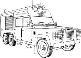 Nice Land Rover 127HCBG Fire Truck Coloring Page | Wecoloringpage ...