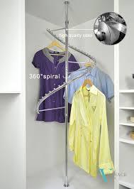 Decorative Metal Garment Rack by Wardrobe Closet Accessories Metal Spiral Clothes Rack Clothes