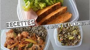 recette cuisine 3 recette healthy n 12 3 idées de lunch box