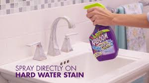 how to clean water stains with kaboom
