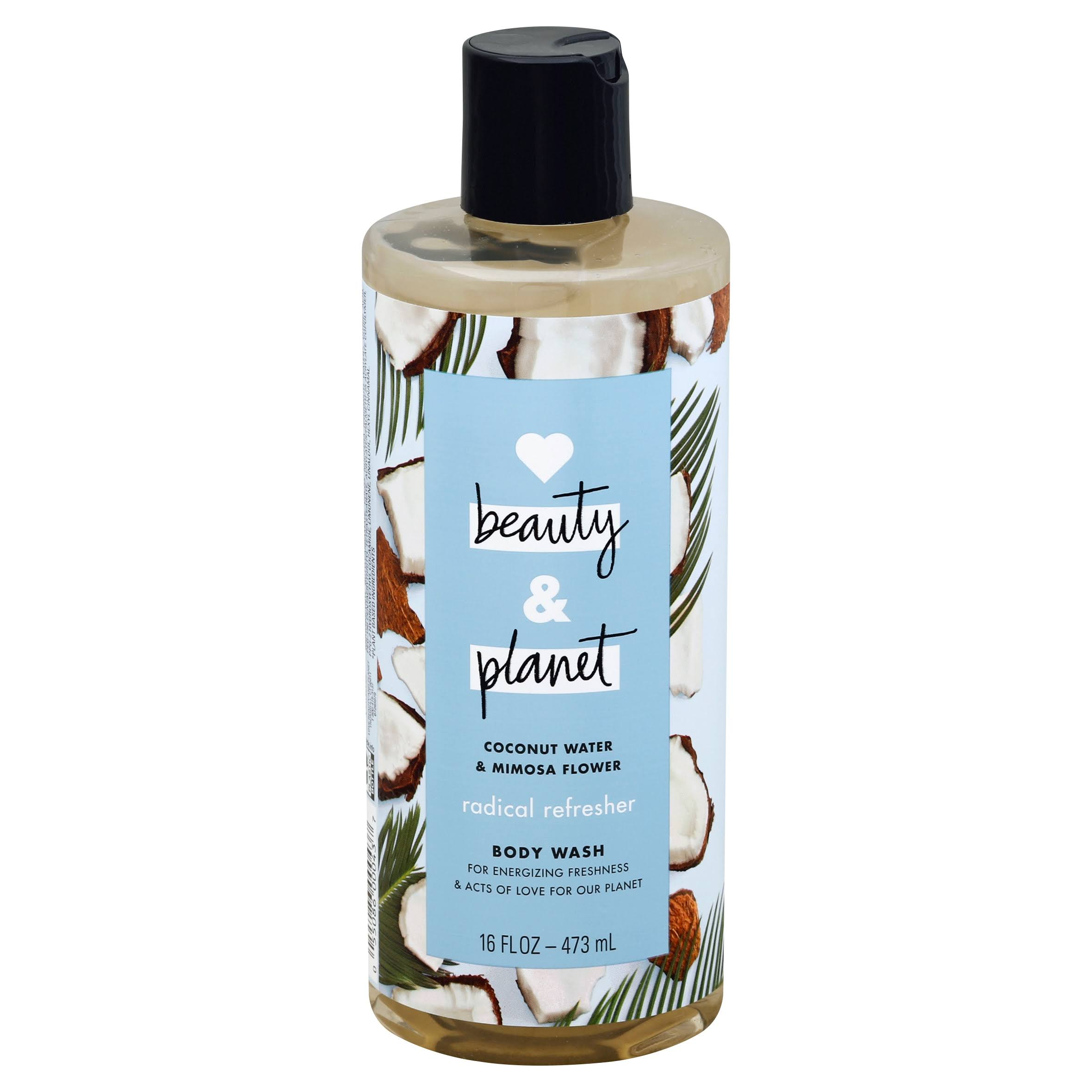 Love Beauty And Planet Radical Refresher Body Wash - Coconut Water & Mimosa Flower, 16oz