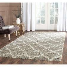 Gray Shag 5 X 8 Area Rugs The Home Depot In 6 Rug Plan Bedroom