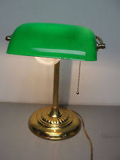 Bankers Lamp Green Glass Shade by Antique Bankers Lamp Green Shade Glass Desk Student Piano Table