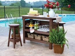 Berlin Gardens Outdoor Bar Set with Backless Bar Stools from