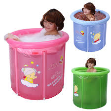 Inflatable Bathtub For Babies by Folding Bathtub Small Bath Bucket Thickening Folding Tub