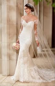 J159 y See Through Top Lace Wedding Dress Chapel Train Long