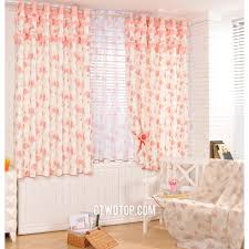 Peach Curtains For Nursery by Peach Pink Floral Insulated Country Printed Cheapest Curtains